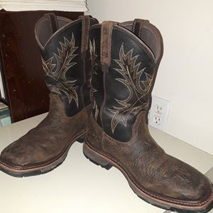 Leather work boots used
